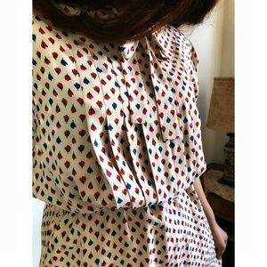 Vintage Silk Floral Painted Dress